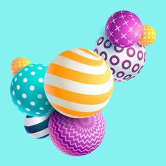 three-dimensional computer graphics balls
