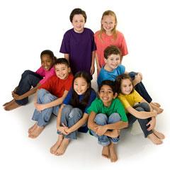 happy, diverse children from around the world